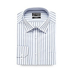 The Collection - Big and tall light blue bold striped tailored shirt