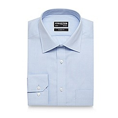 The Collection - Light blue twill regular fit shirt