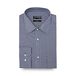 The Collection - Navy gingham regular fit shirt