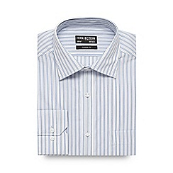 The Collection - Big and tall light blue striped regular fit shirt