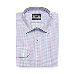 The Collection - Big and tall light blue gingham regular fit shirt