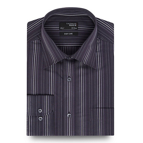 Thomas Nash - Purple stripe long sleeved shirt