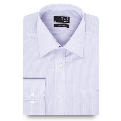 Thomas Nash - Lilac satin striped shirt
