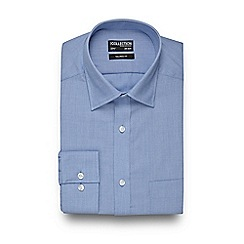 The Collection - Big and tall light blue textured tailored shirt