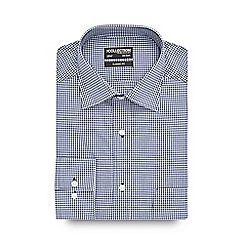 The Collection - Big and tall blue gingham long sleeved shirt