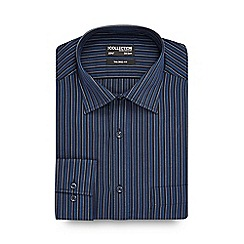 The Collection - Big and tall dark blue ombre striped tailored shirt
