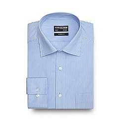 The Collection - Big and tall blue fine striped long sleeved shirt