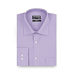 The Collection - Big and tall lilac fine striped long sleeved shirt