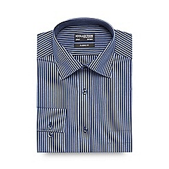 The Collection - Navy striped long sleeved shirt
