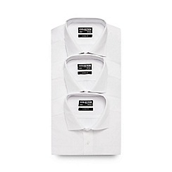 The Collection - Big and tall pack of three white short sleeved shirts