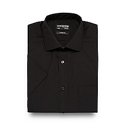 The Collection - Big and tall black short sleeved regular fit shirt