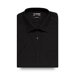 The Collection - Big and tall black short sleeved shirt