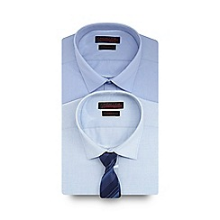 Red Herring - Pack of two light blue shirts and tie in a gift box
