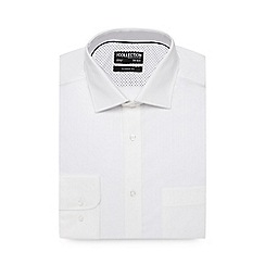 The Collection - Big and tall white striped regular fit shirt