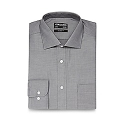 The Collection - Big and tall grey textured tailored shirt