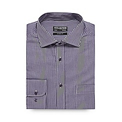 The Collection - Big and tall purple herringbone striped shirt
