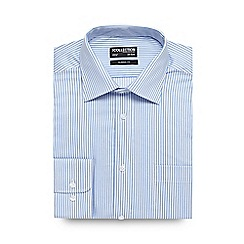 The Collection - Big and tall light blue fine striped shirt