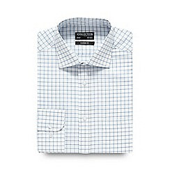 The Collection - Navy windowpane checked regular shirt