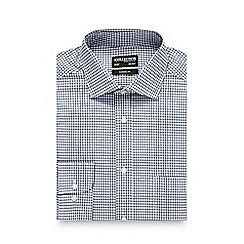 The Collection - Big and tall navy twill checked regular shirt