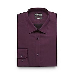 The Collection - Big and tall dark purple slim sateen shirt