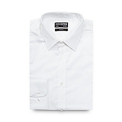 The Collection - Big and tall white slim sateen shirt