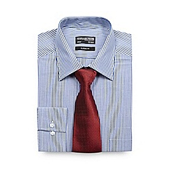 The Collection - Big and tall blue striped shirt