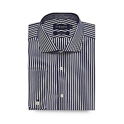 Osborne - Big and tall navy butchers striped regular fit shirt