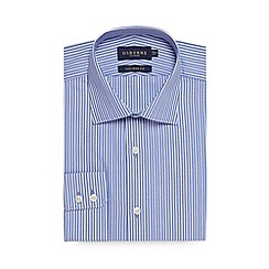 Osborne - Big and tall blue twill tailored fit shirt