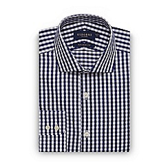 Osborne - Big and tall navy large twill gingham regular shirt