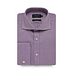 Osborne - Purple herringbone tailored shirt