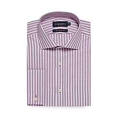 Osborne - Big and tall lilac bold striped tailored fit shirt