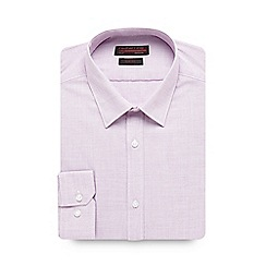Red Herring - Big and tall lilac birds eye slim fit shirt