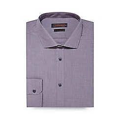Red Herring - Big and tall purple marl slim fit shirt