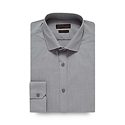 Red Herring - Big and tall grey marl slim shirt