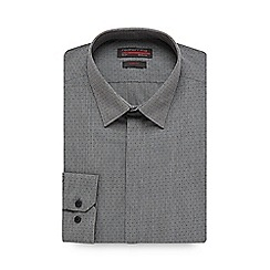 Red Herring - Black striped spotted slim fit shirt