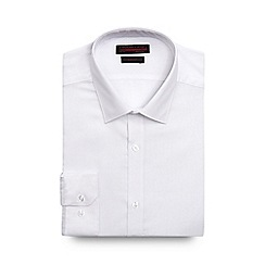 Red Herring - Big and tall white textured slim fit shirt