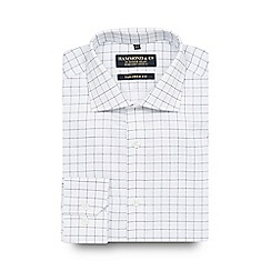 Hammond & Co. by Patrick Grant - Big and tall designer white checked cotton tailored fit shirt