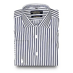 Hammond & Co. by Patrick Grant - Big and tall navy bold striped tailored shirt