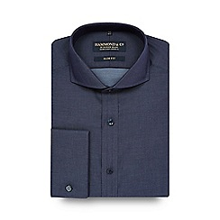Hammond & Co. by Patrick Grant - Big and tall navy slim fit shirt