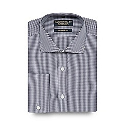 Hammond & Co. by Patrick Grant - Big and tall designer navy gingham checked tailored fit shirt