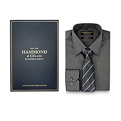 Hammond & Co. by Patrick Grant - Dark grey shirt with tie in a gift box