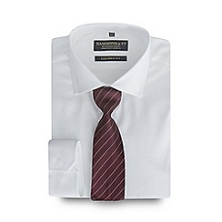 Hammond & Co. by Patrick Grant - Big and tall white twill shirt and tie set with gift box