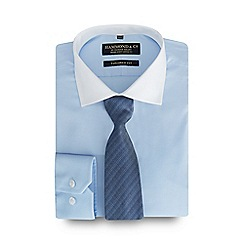 Hammond & Co. by Patrick Grant - Blue cotton shirt and tie set in a gift box