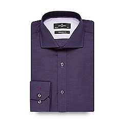 Jeff Banks - Big and tall purple textured tailored shirt