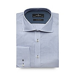 Jeff Banks - Big and tall blue textured stripe tailored shirt