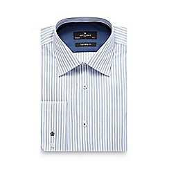 Jeff Banks - Big and tall blue multi striped tailored shirt