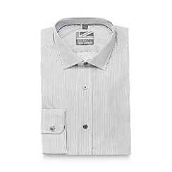 Jeff Banks - Big and tall white striped slim fit shirt