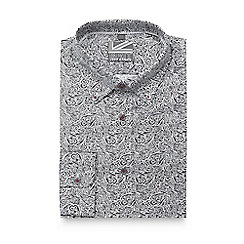Jeff Banks - Black paisley slim fit shirt