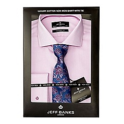 Jeff Banks - Big and tall lilac shirt with tie
