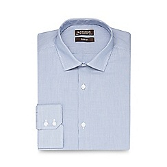 St George by Duffer - Light blue fine stripe slim fit shirt